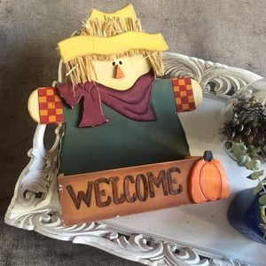 Other - Welcome Scarecrow decoration/wall hanging